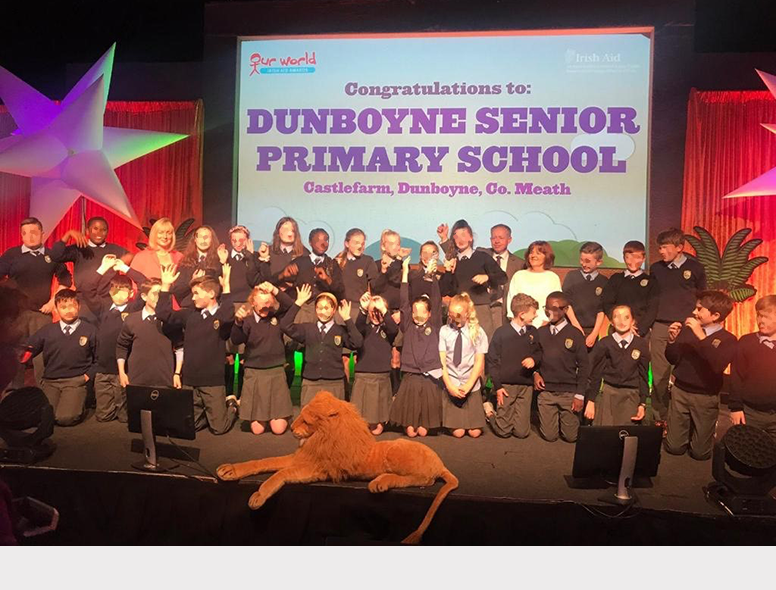Dunboyne Senior primary school won National Award for excellence in global awareness