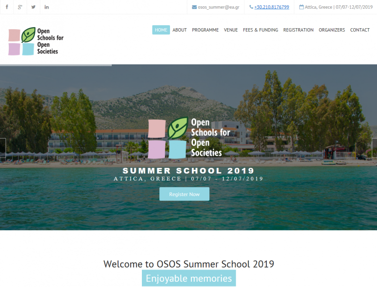 Join us at the OSOS Summer School 2019